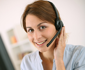 Customer service staff waiting for your contact